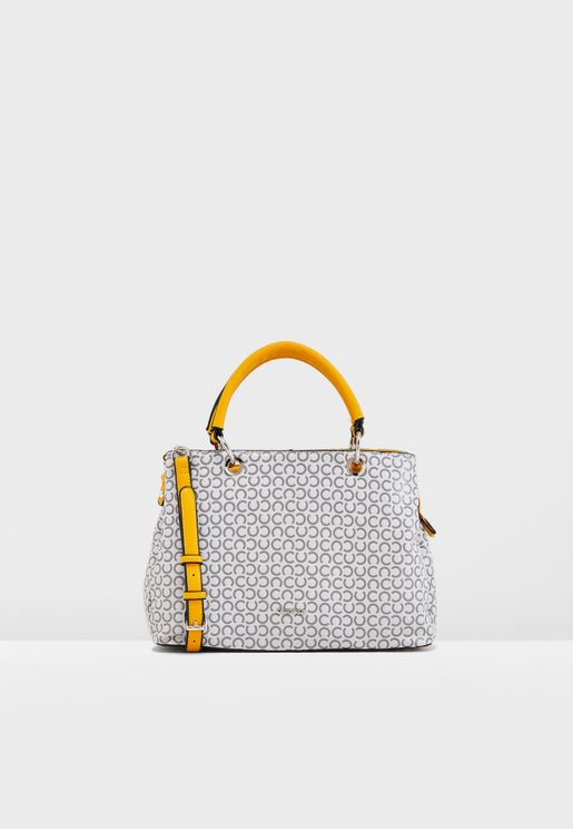 Chain Detail Printed Tote