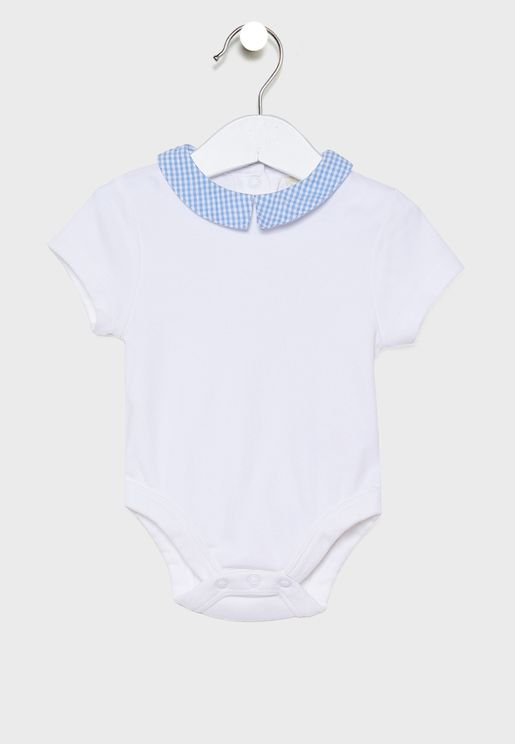 Kids Gingham Collar Bodysuit