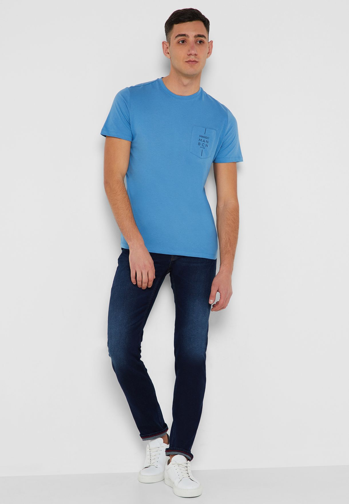 Slim Fit  Faded Tim Jeans