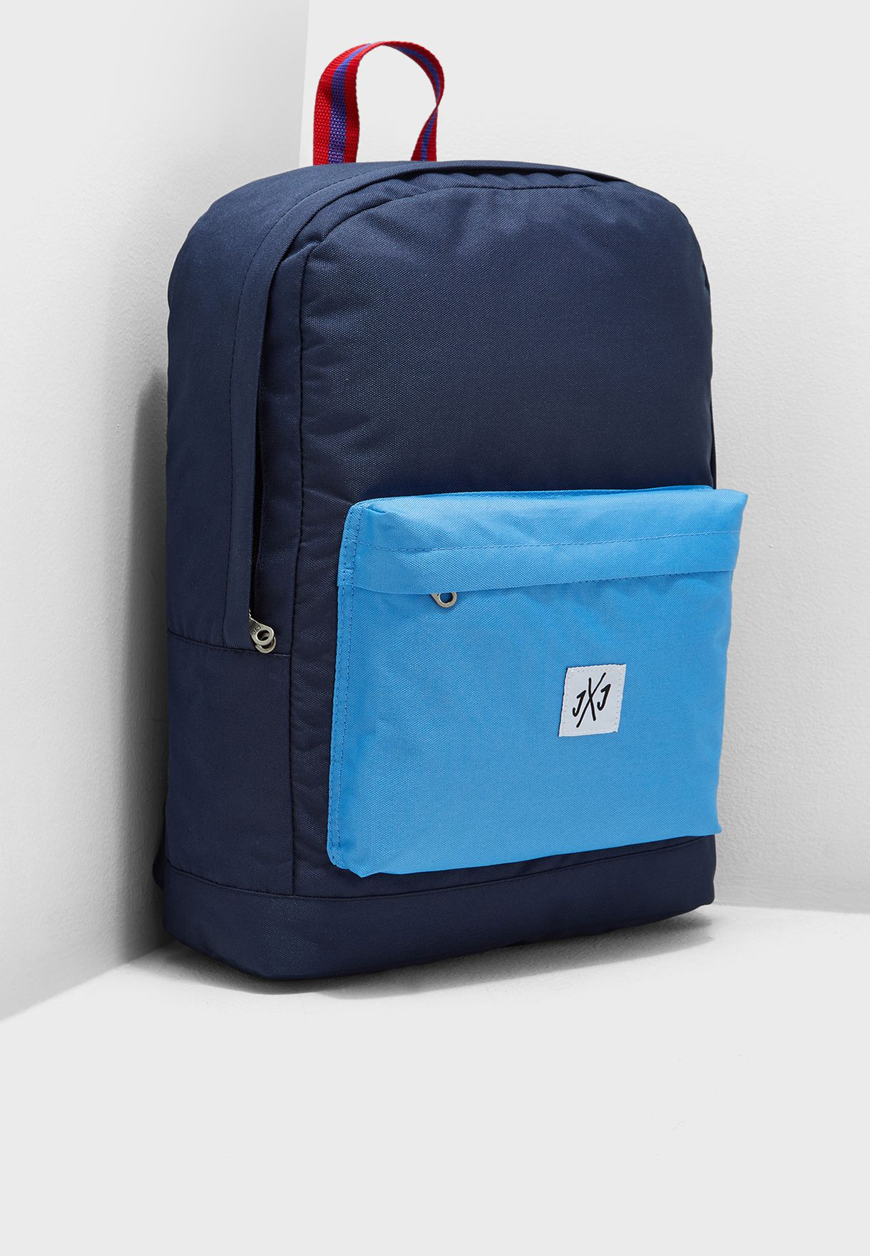 5ad9fbdfd4ab Shop Jack Jones blue Colour Block Backpack 12149816 for Men in Kuwait -  87872AC57UPP