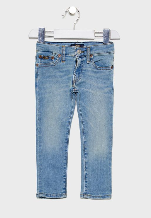 بنطال جينز بشعار الماركة