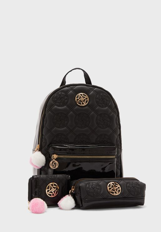 Kids Logo Quilted Backpack