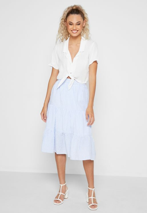 Tiered Stripped Skirt
