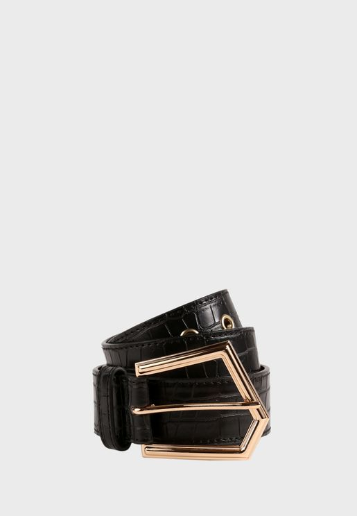 Asymmetric Buckle Belt