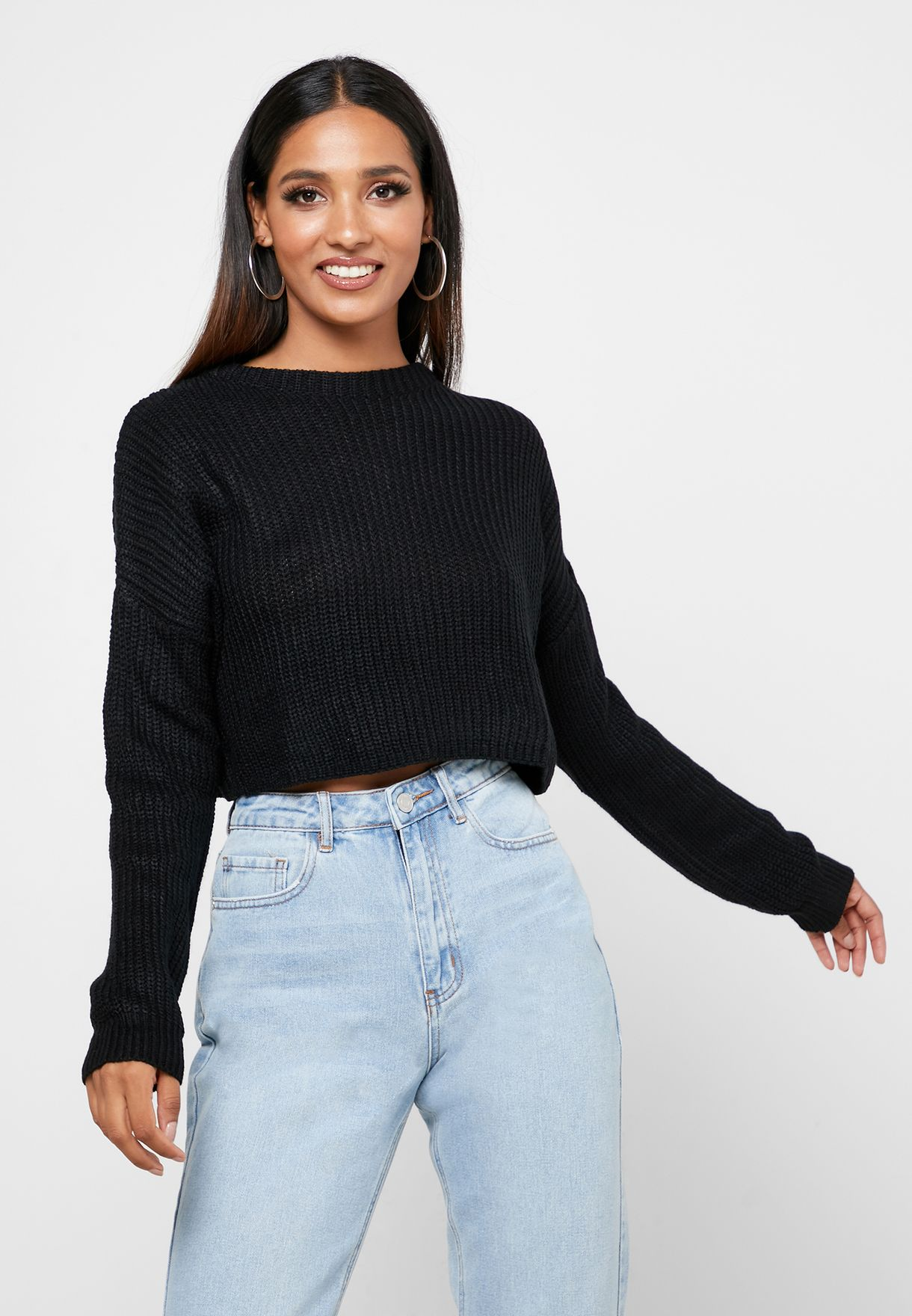 Super Crop Long Sleeved Jumper