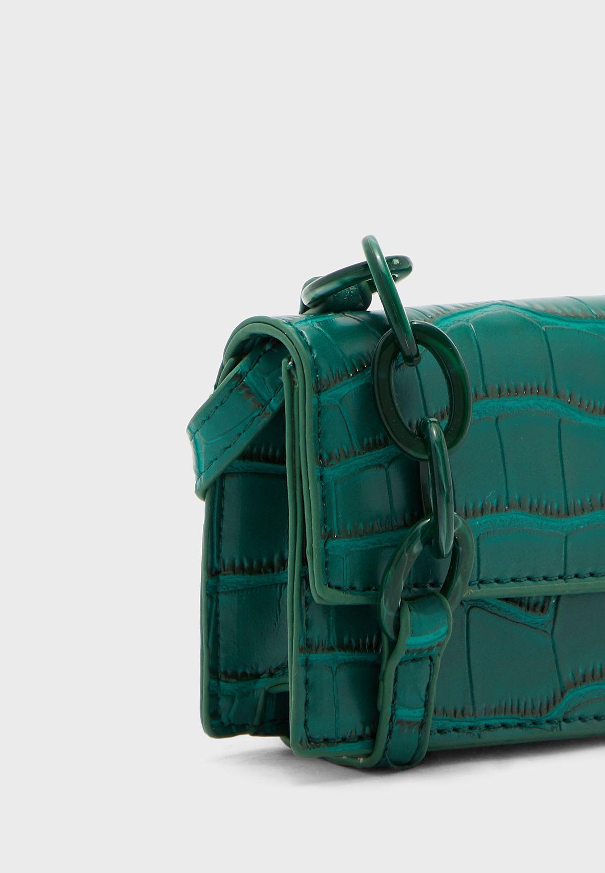 Croc Chain Tassel Crossbody Bag