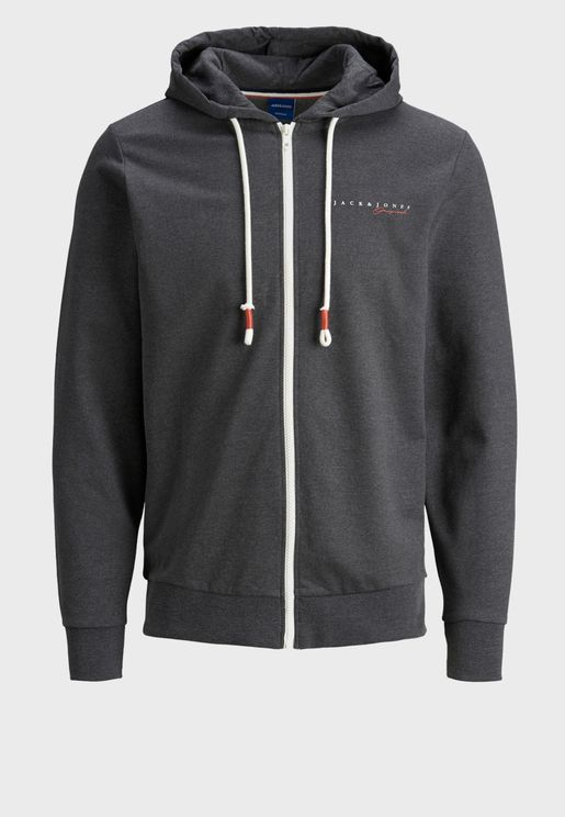Essential Regular Fit Zip Through Hoodie