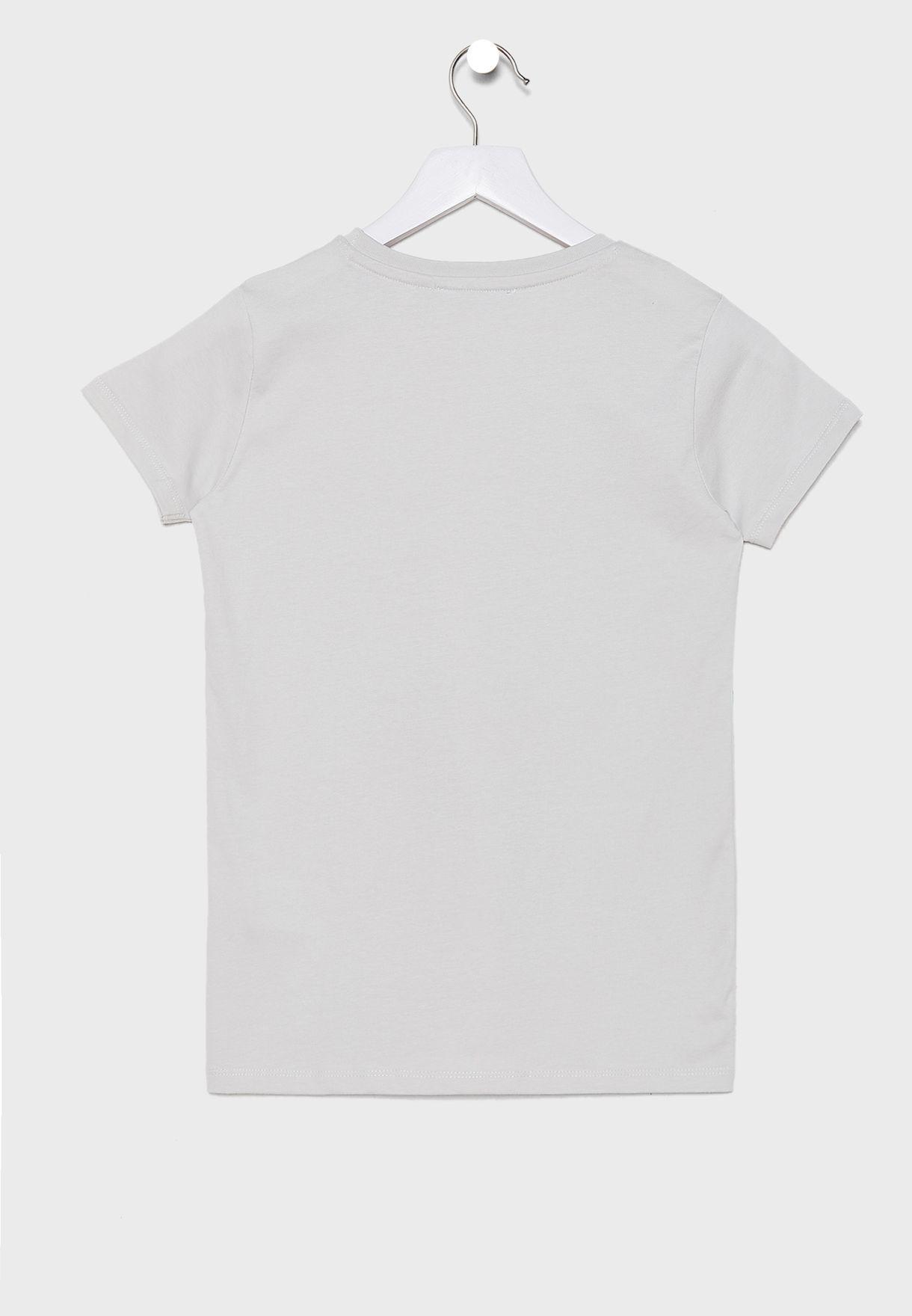 Teen Graphic T-Shirt + Striped Shorts Set