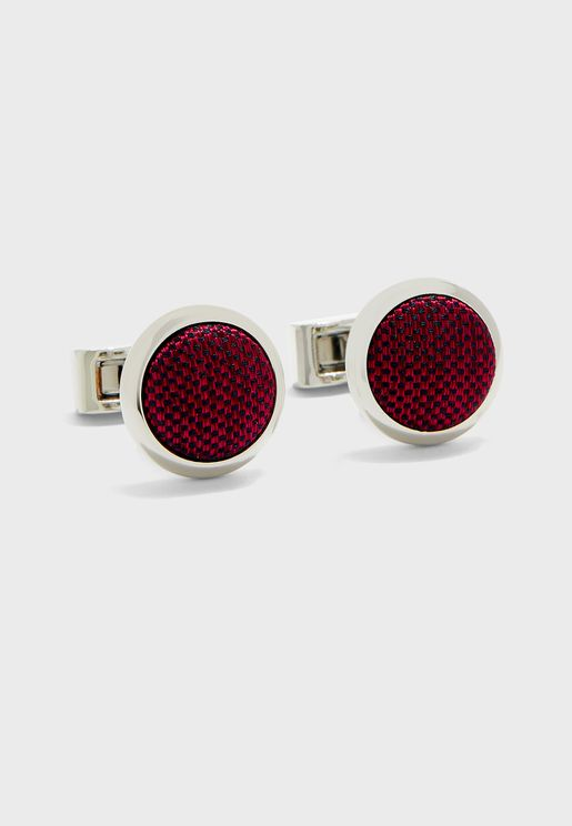 Link Woven Two Tone Cuff Links
