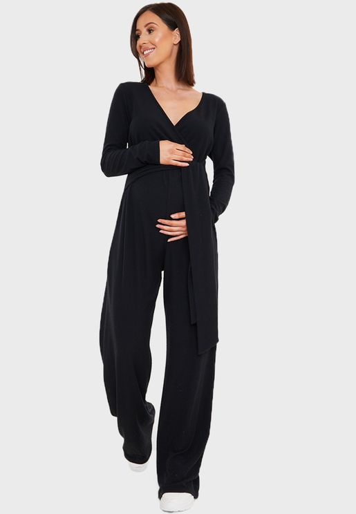 Ribbed Button Jumpsuit