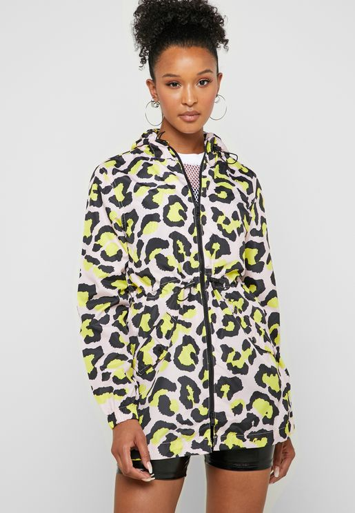 Leopard Print Shower Proof Jacket