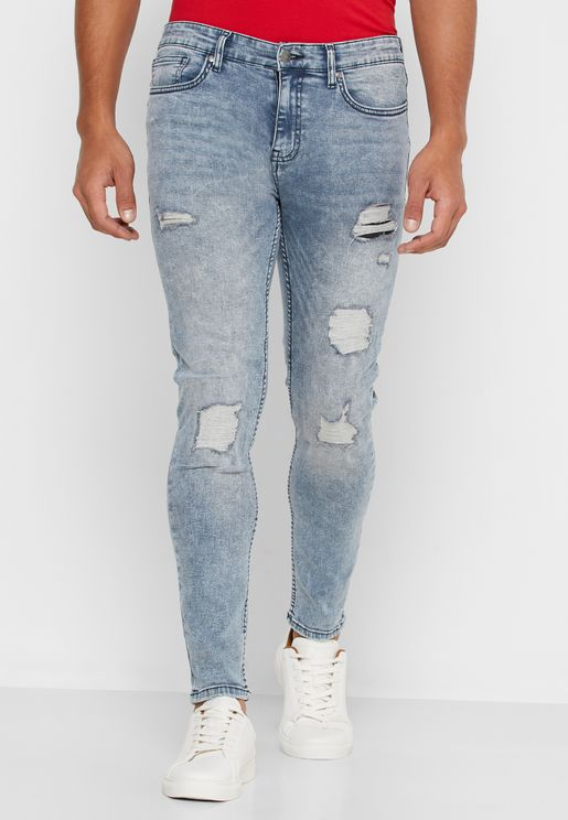Distressed Super Skinny Fit Jeans
