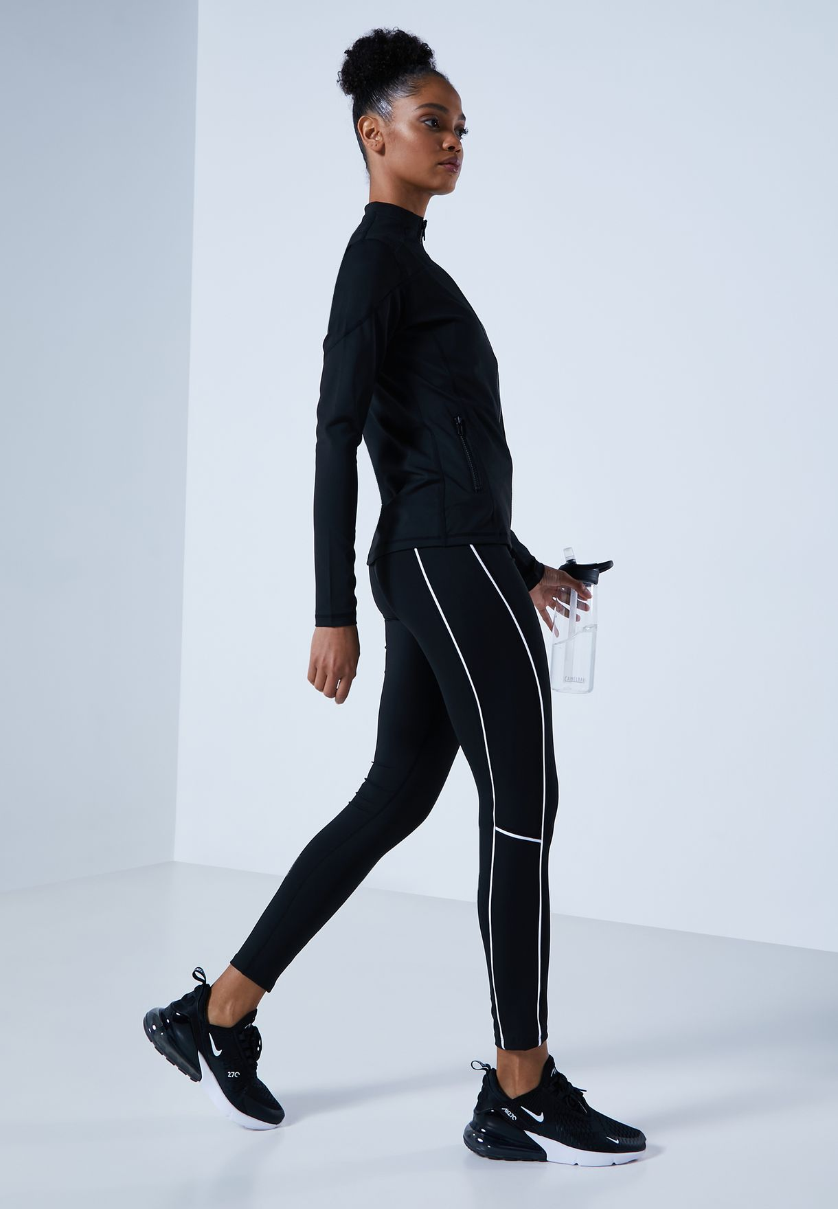 High Waisted Piping Leggings