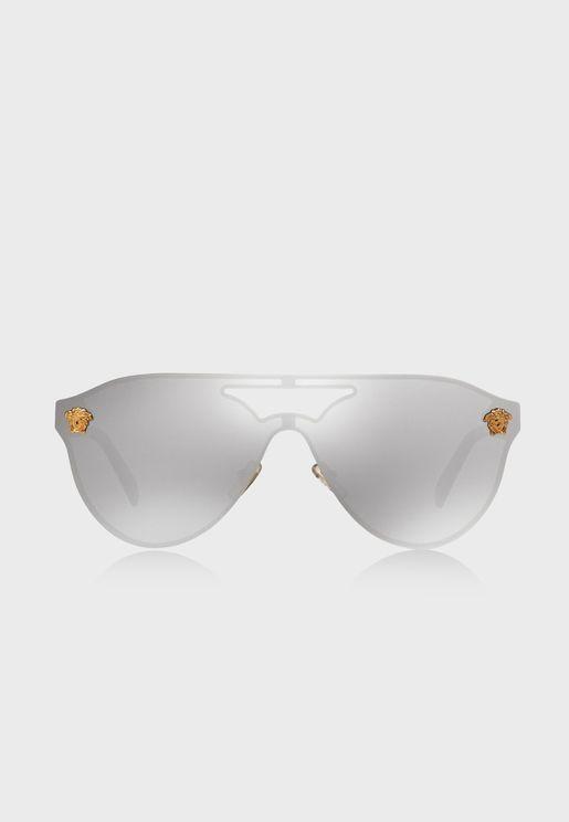 Shield Aviator Sunglasses
