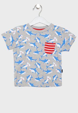 e4bdcc98 Shop Polo Ralph Lauren grey Kids Logo T-Shirt 3.24E+11 for Kids in ...