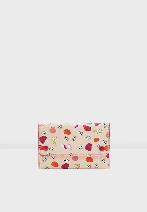 Caracola Seashell Printed Wallet