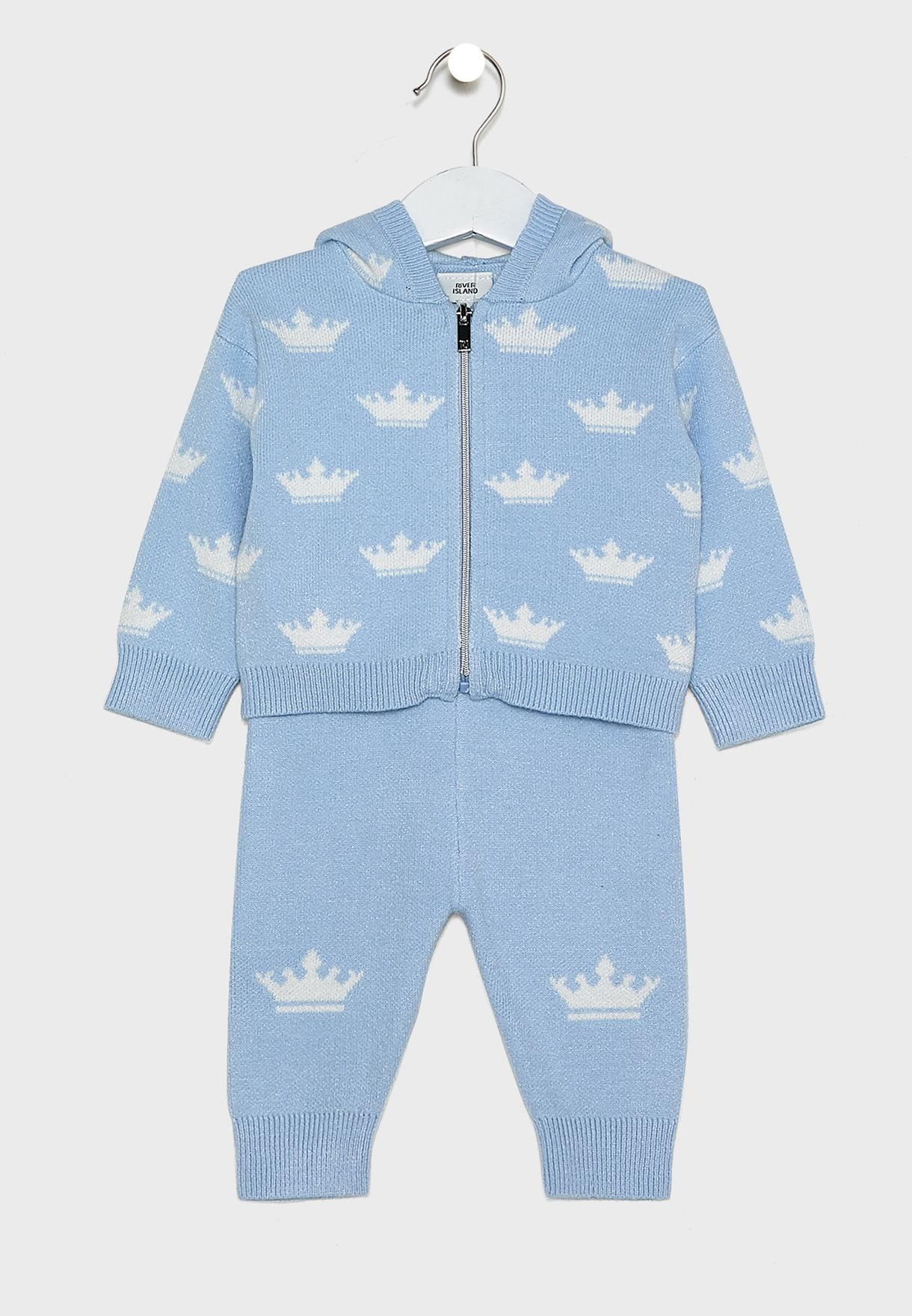 Infant Crown Knitted 2 Piece Set