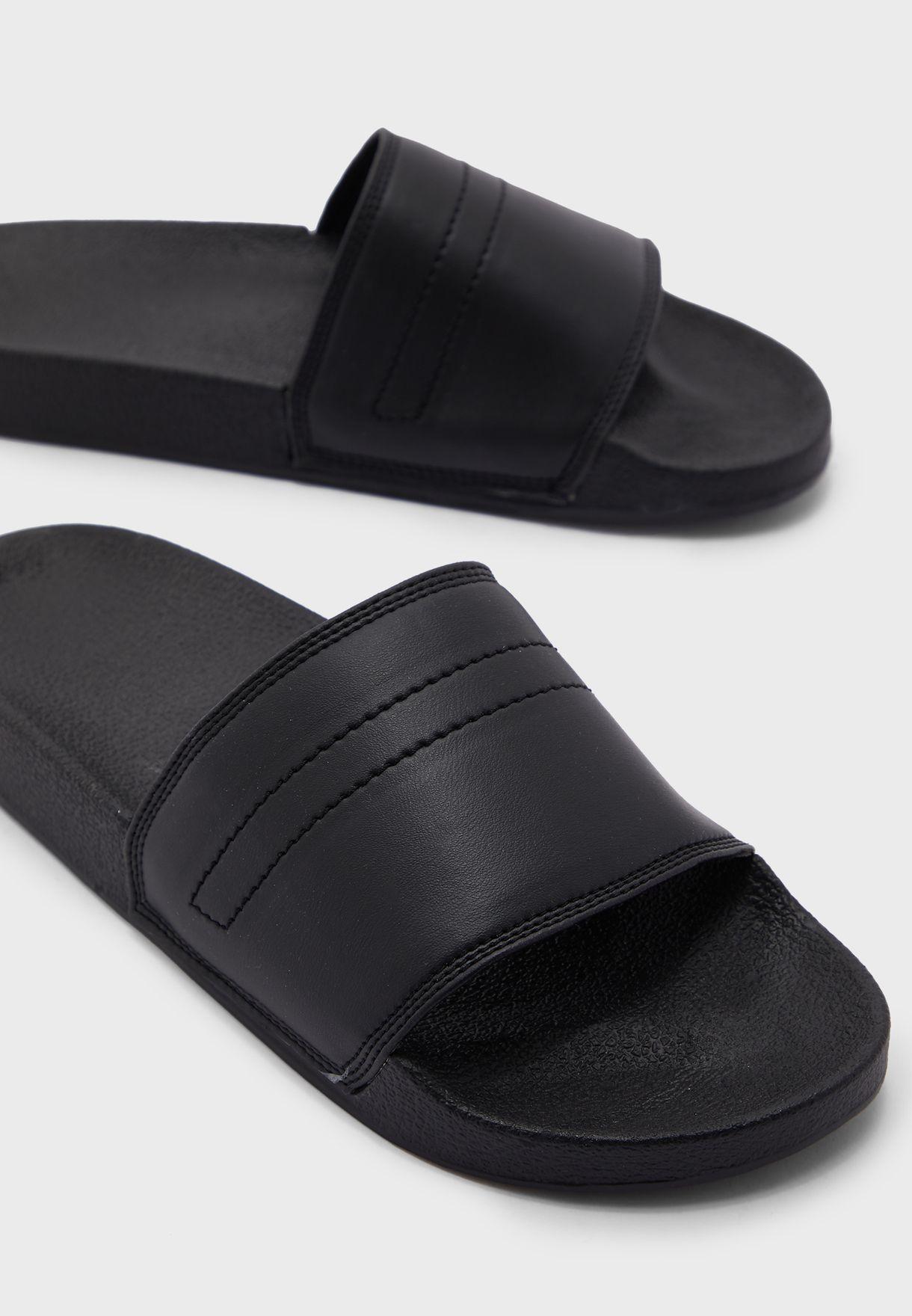 Plain Casual Slides