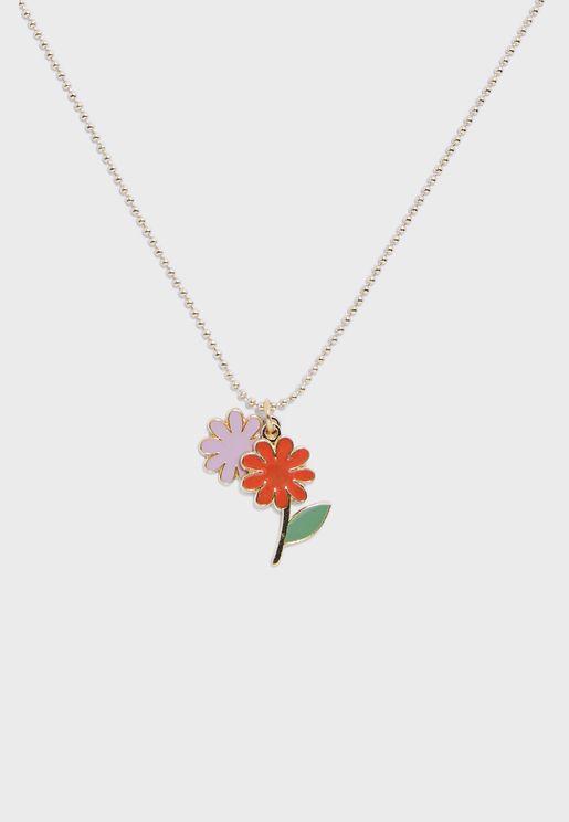 Kids Flower Pendant Necklace