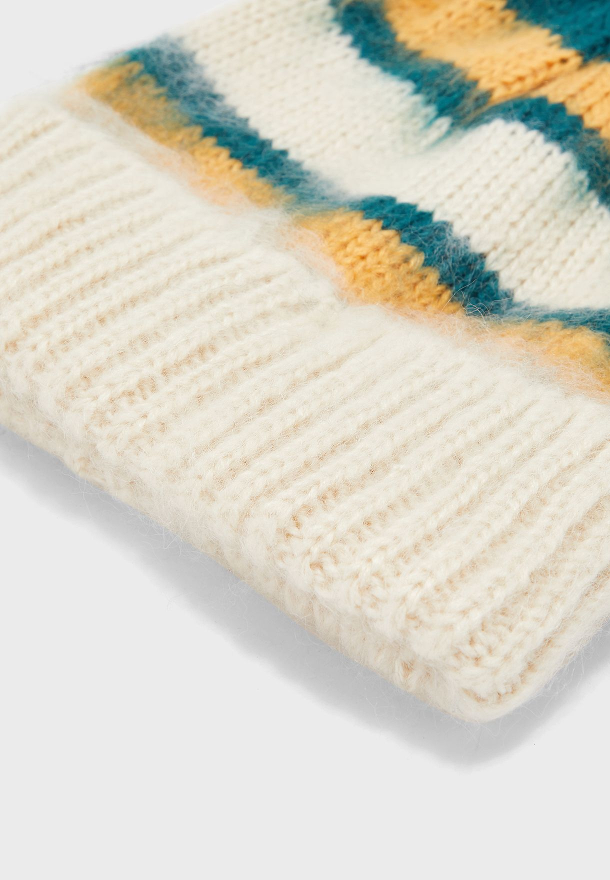 Brushed Striped Beanie
