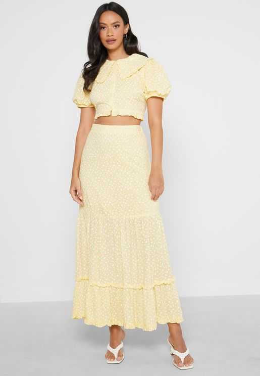 Co-Ord Tiered Midaxi Skirt