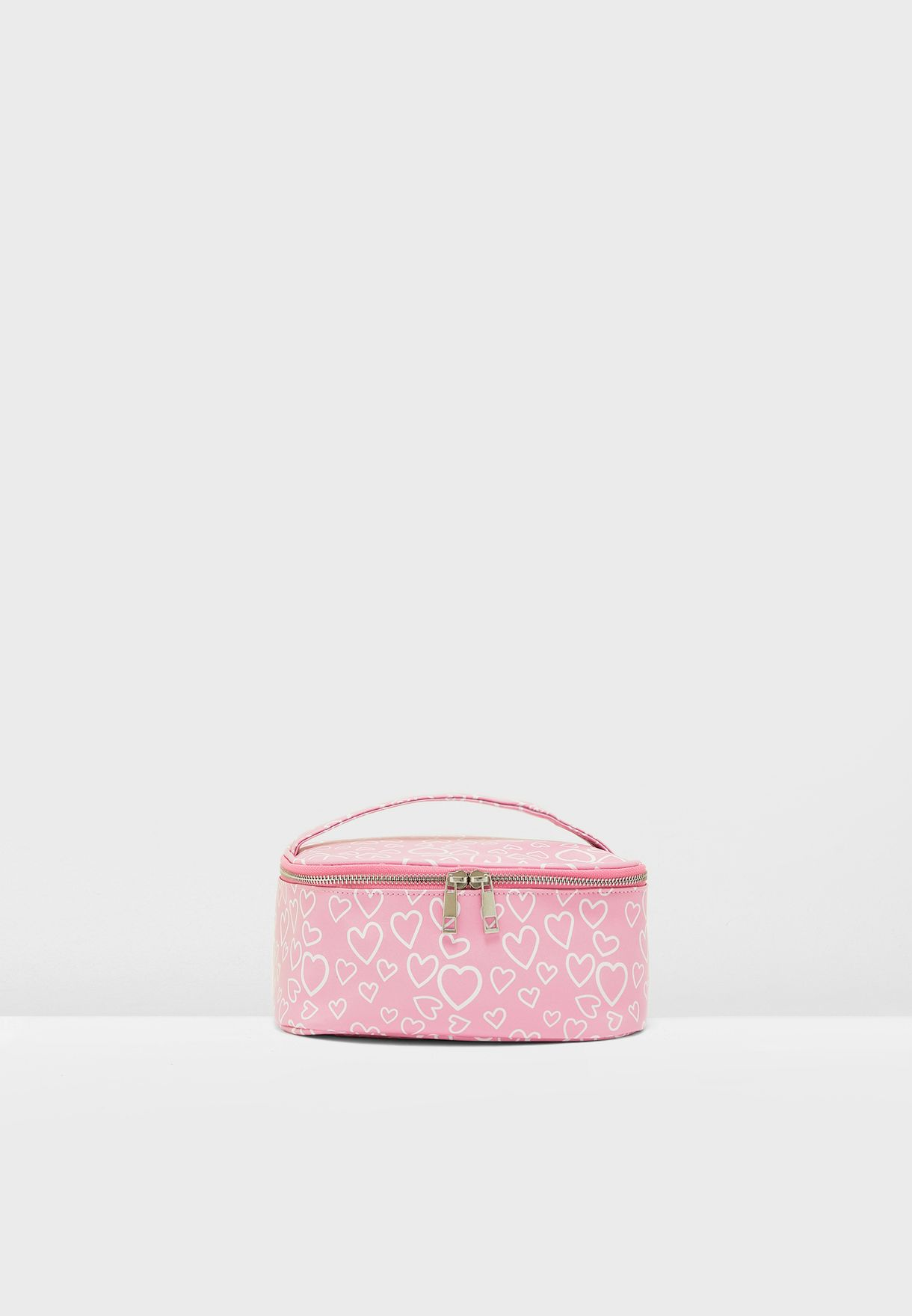 Heart Print Cosmetic Case