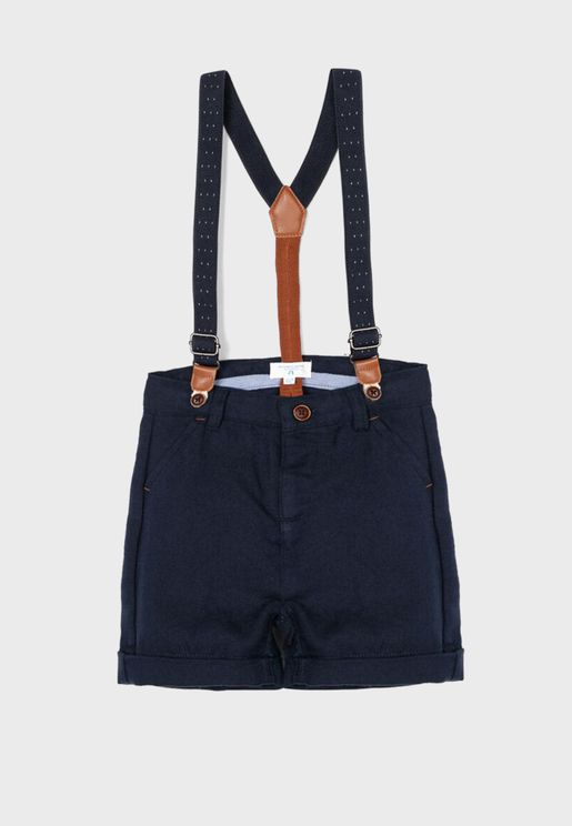 Infant Shorts With Suspenders