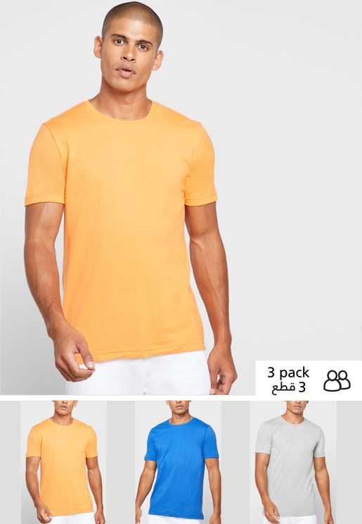 3 Pack Crew Neck T Shirt