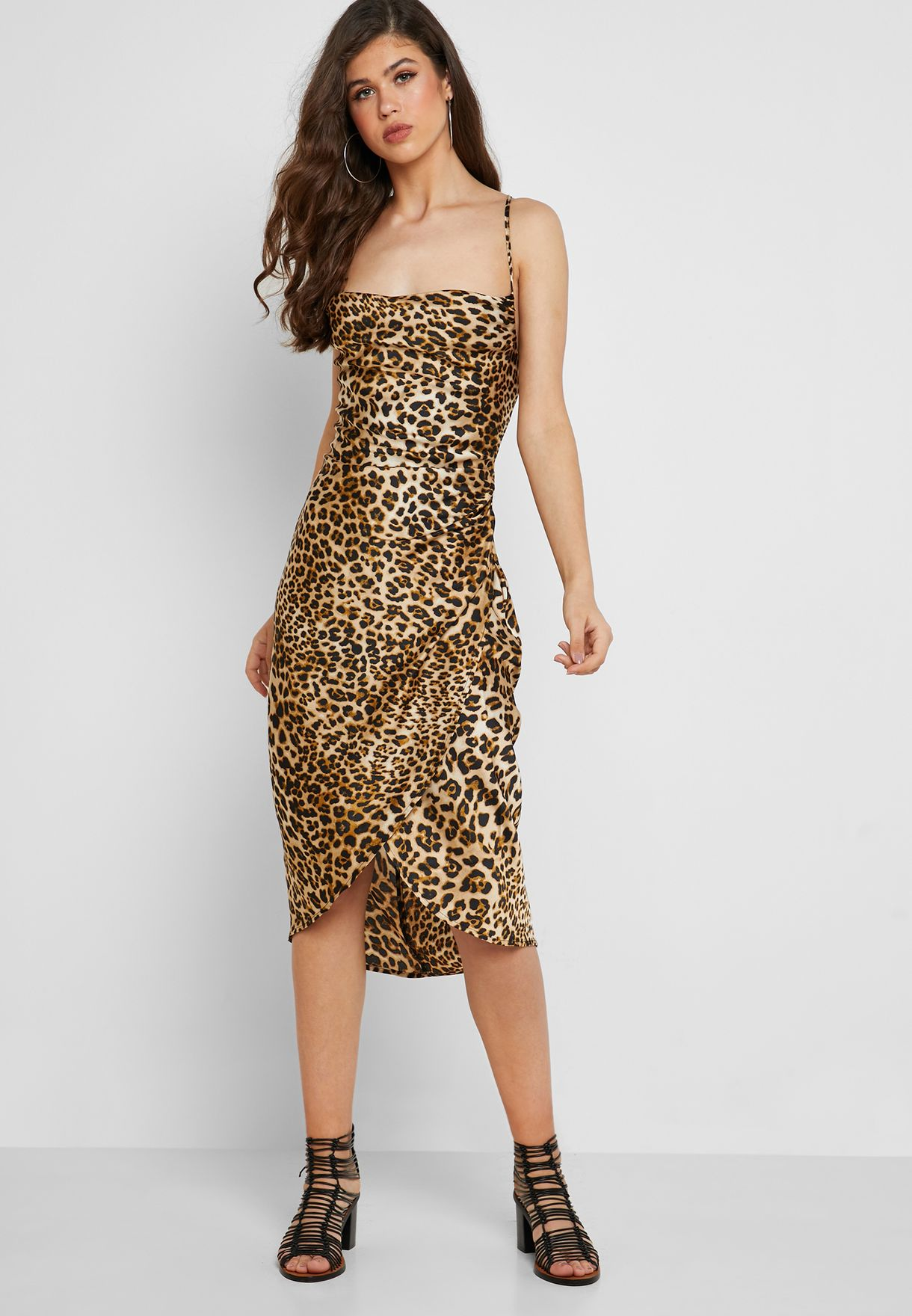 ab603ee4ab24 Shop Moon River prints Leopard Print Cami Dress MR4977 for Women in ...
