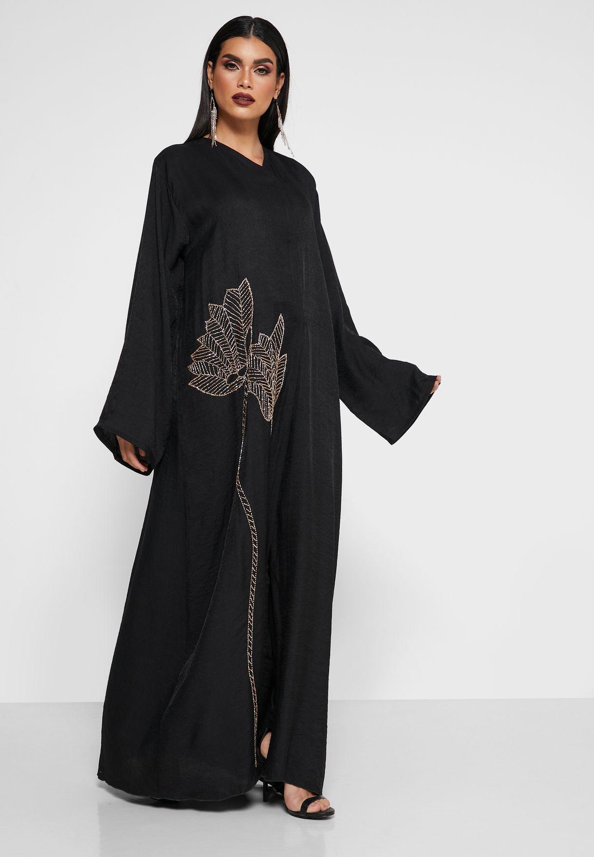 Floral Print Abaya