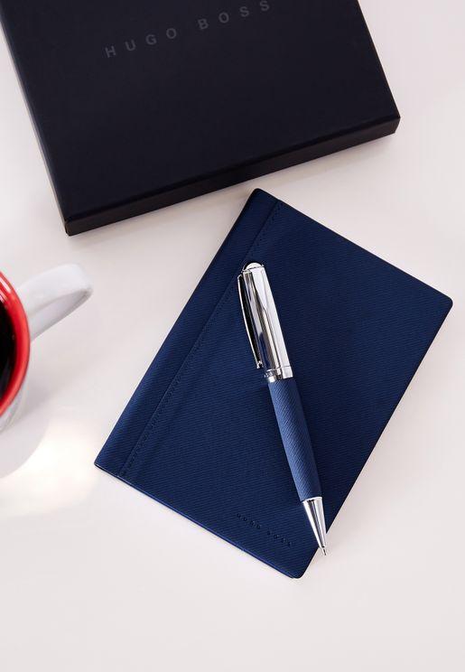 طقم دفتر ملاحظات + قلم  حبر جاف