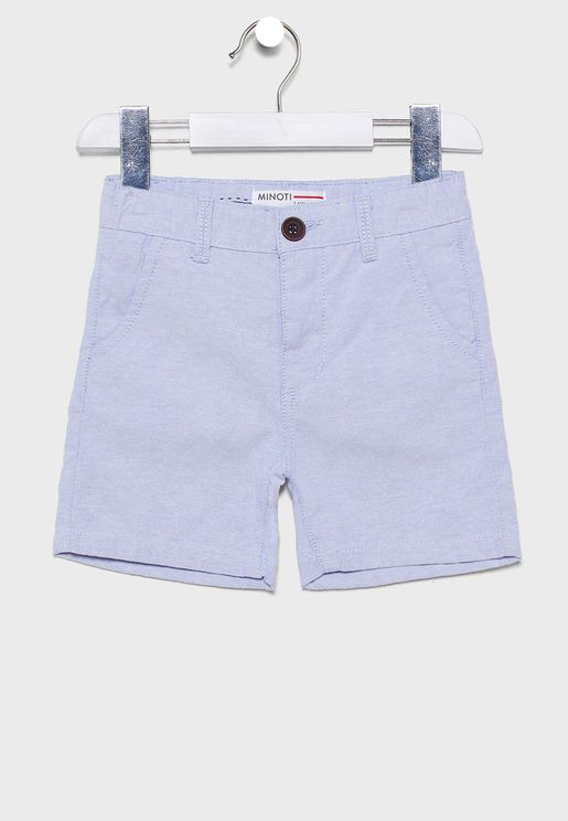 Little Chambray Shorts With Belt