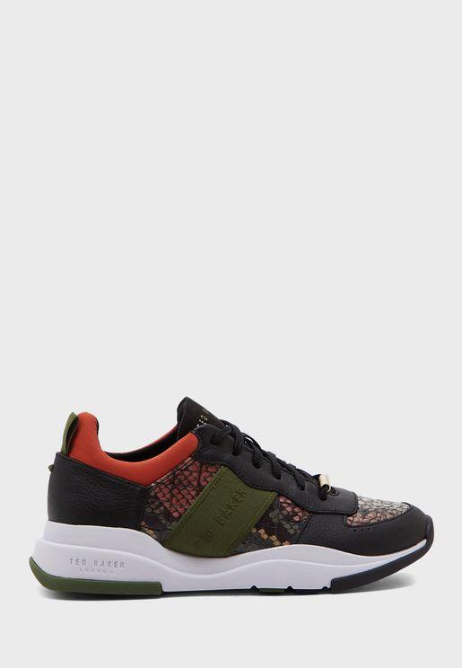 Wavara Exotic Chunky Sneaker - Black