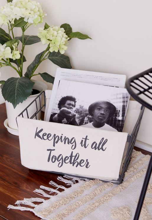 Keeping It All Together Printed Basket