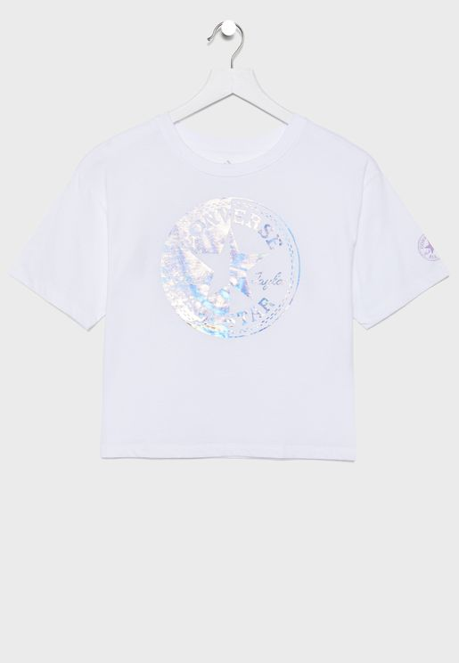 Youth Spliced Chuck Patch Boxy T-Shirt