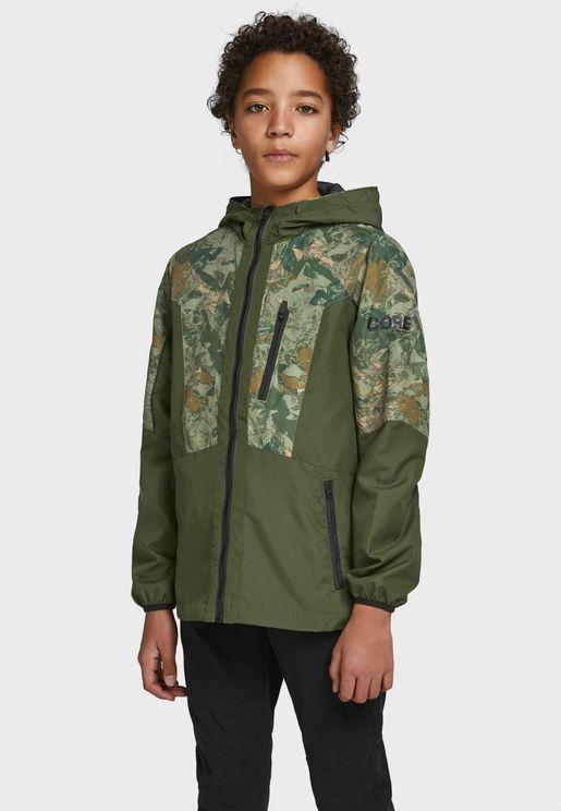 Kids Camo Hooded Jacket