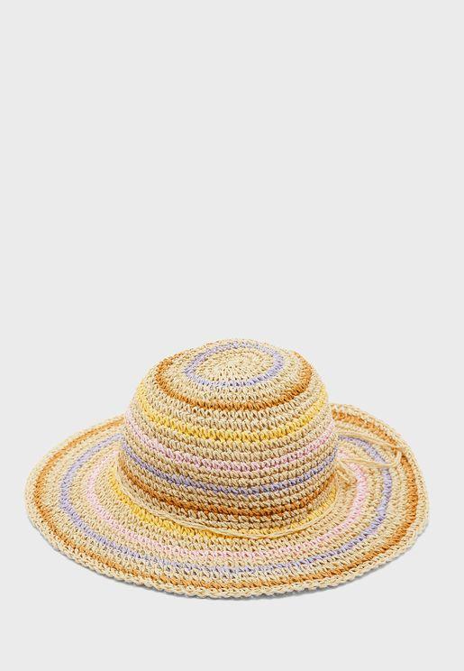 قبعة قش باربطة