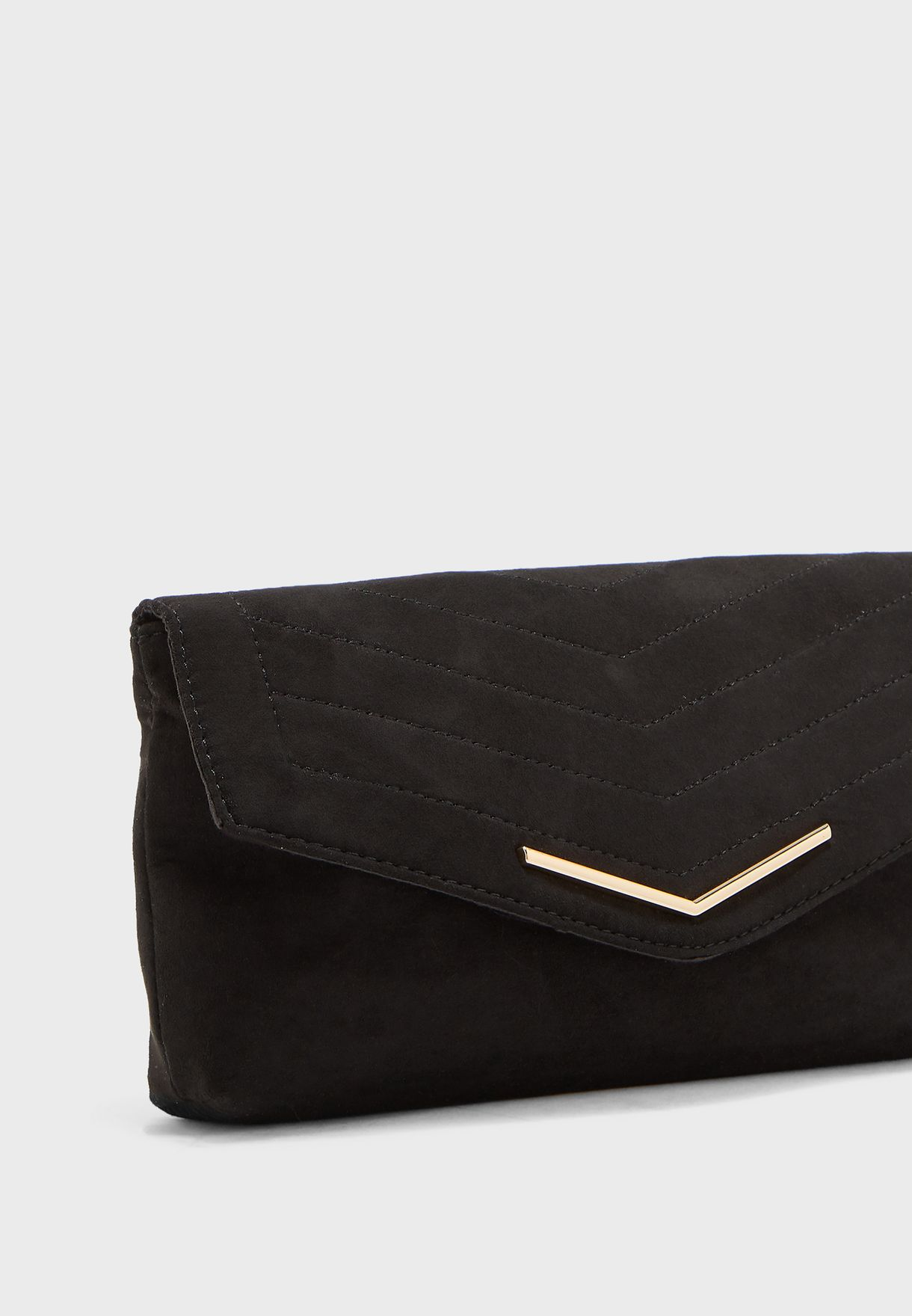 Stitched Flap Over Clutch