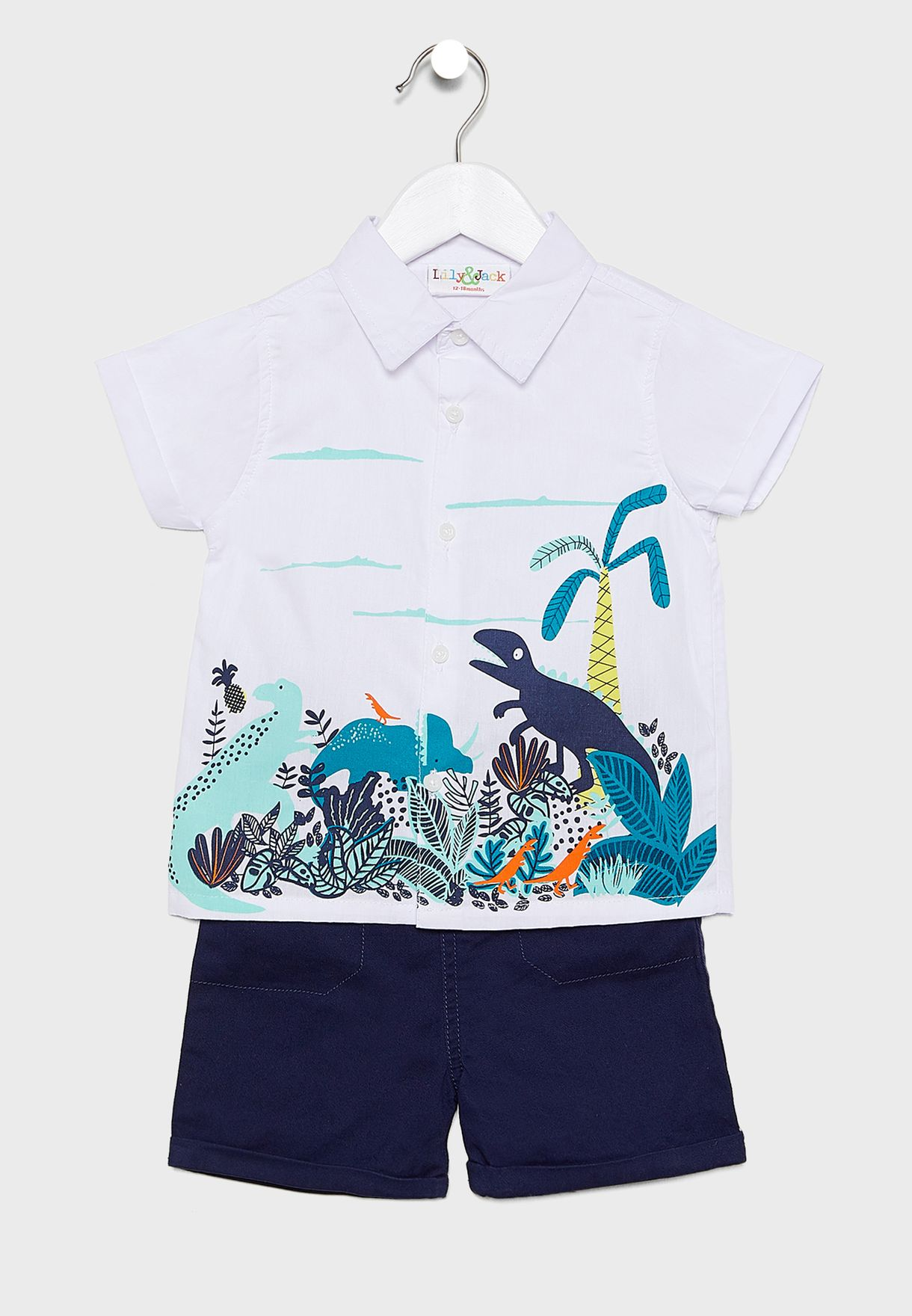 Infant Dino Shirt + Shorts Set