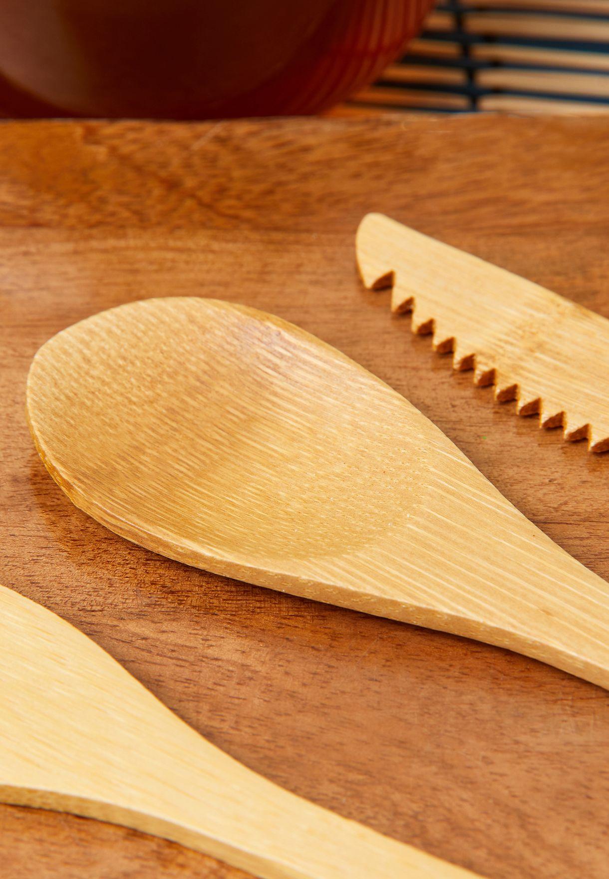 Set Of 3 Bamboo Cutlery