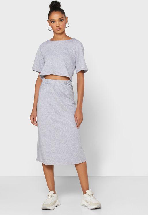 Contrast Stitch Dress