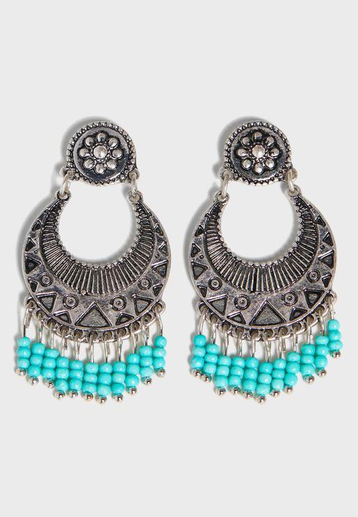 Decorative Beading Detail Earrings