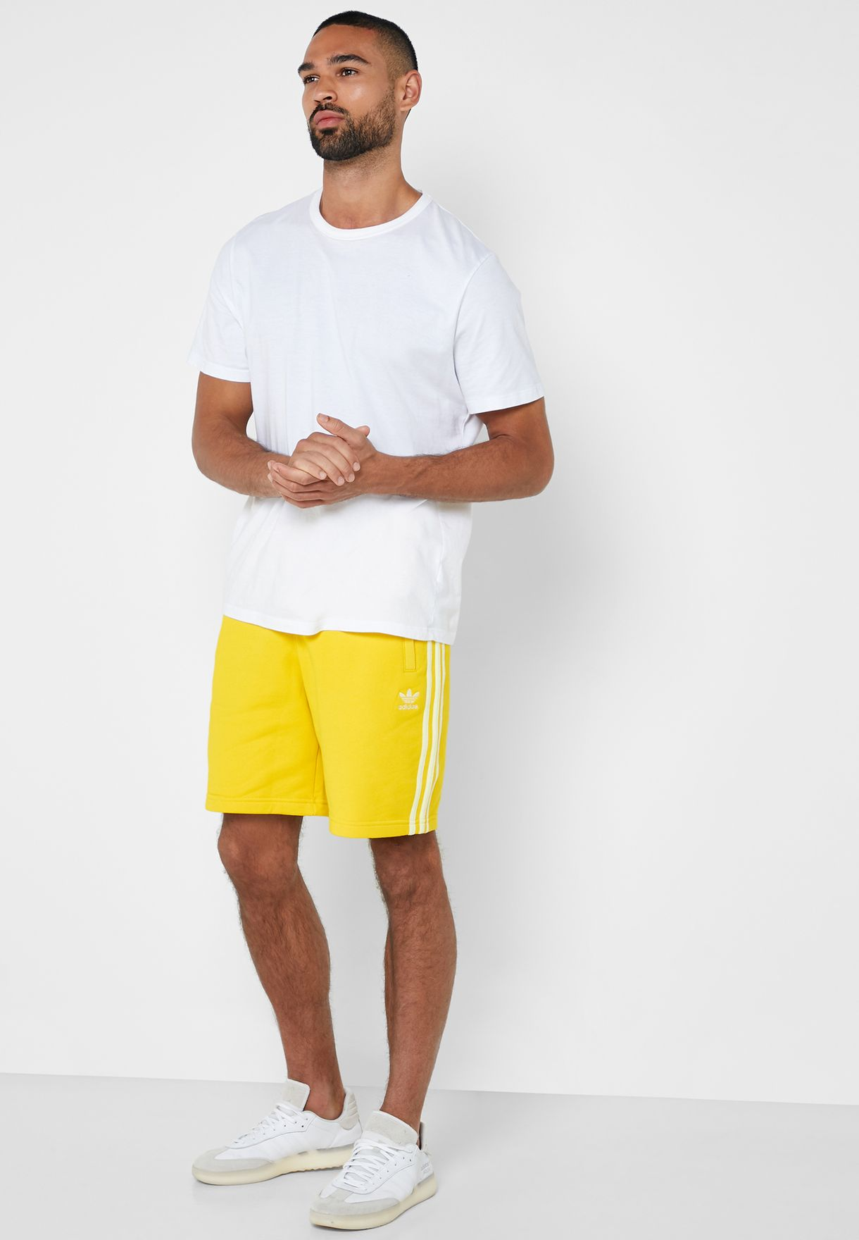 adidas 3 stripes shorts men