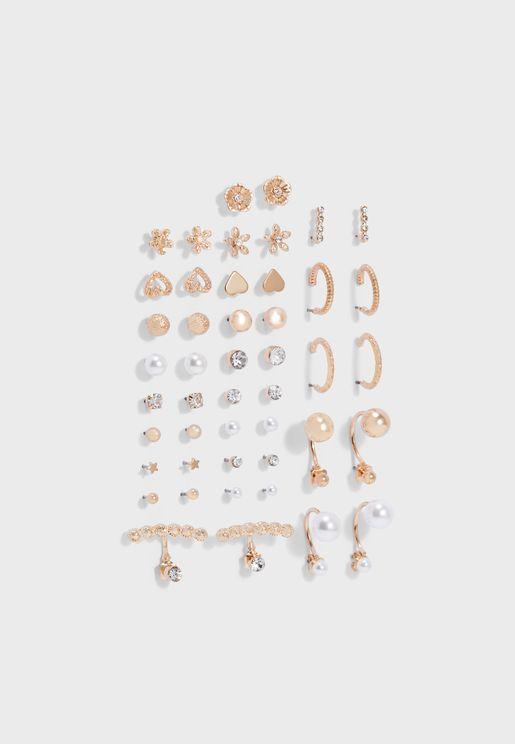 Unebriwen Multipack Earing Set