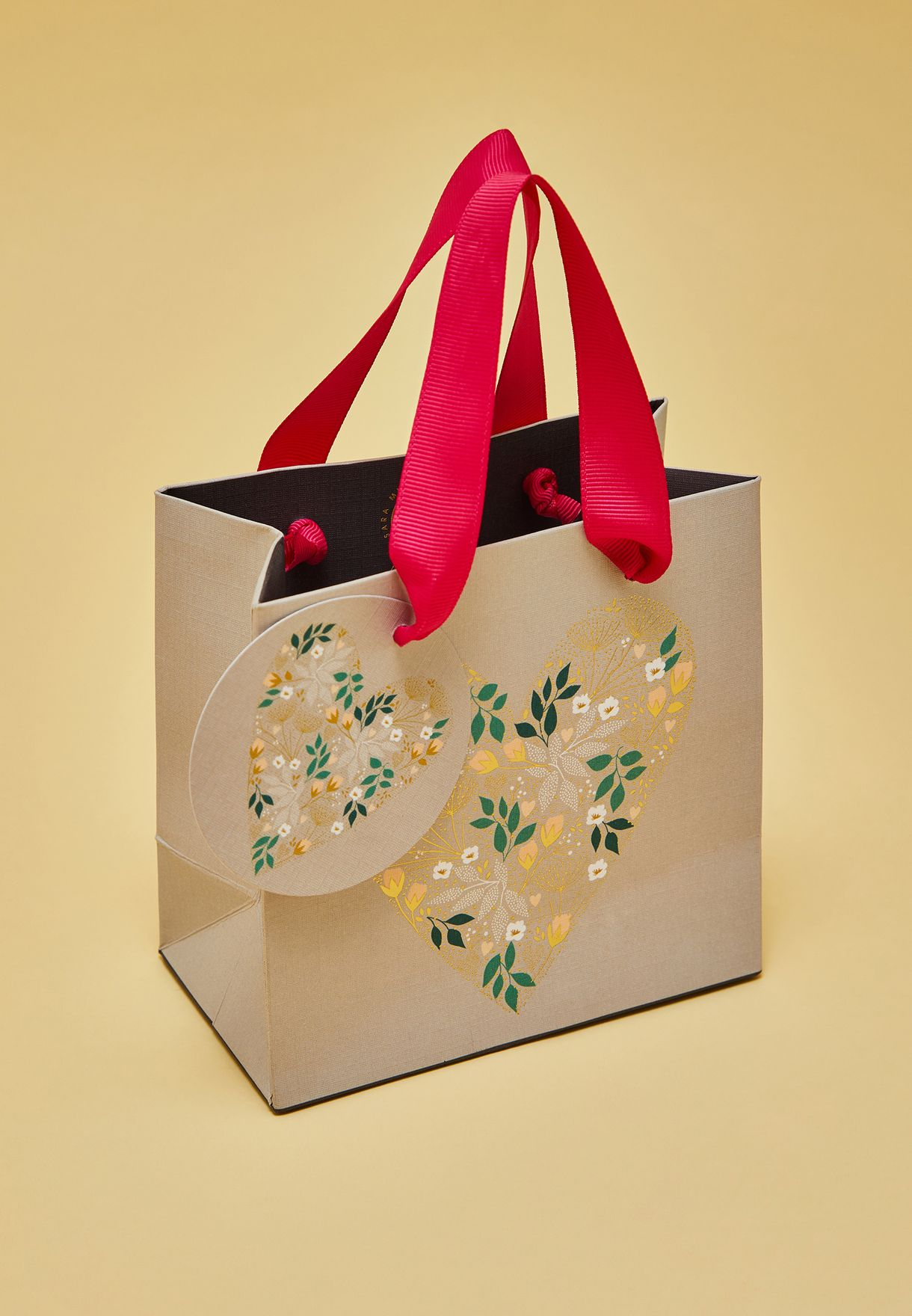 شنطة هدايا بطبعات ازهار