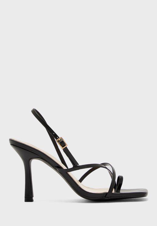 Square Toe Multi-Skinny Strap Sandal
