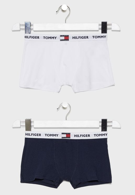 Teen 2 Pack Logo Waistband Boxer
