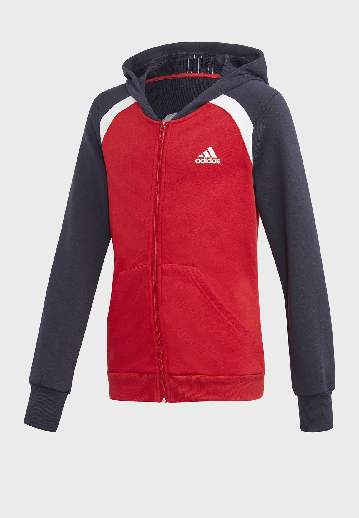 Youth Colour Block Hooded Tracksuit