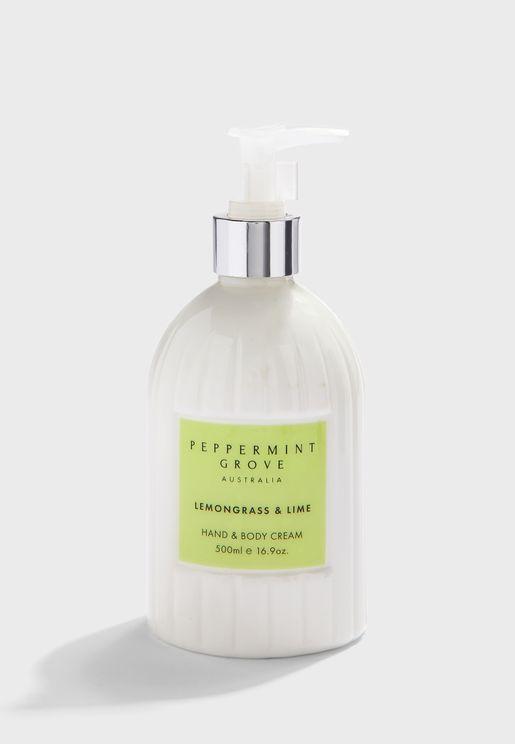 Lemongrass & Lime Hand Cream Pump 500ml