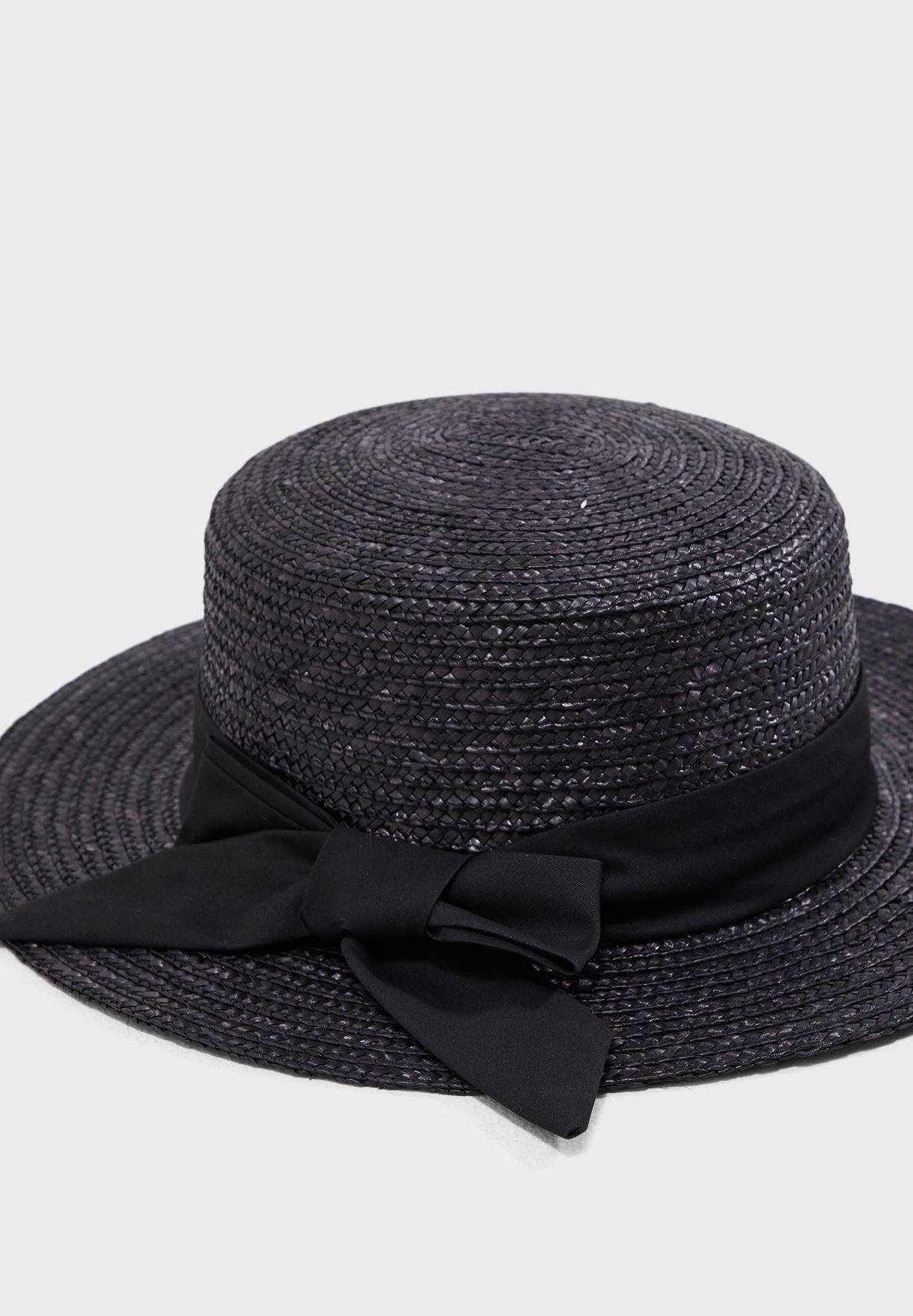 712570b27ee Shop New Look black Straw Boater Hat 617199601 for Women in Oman ...